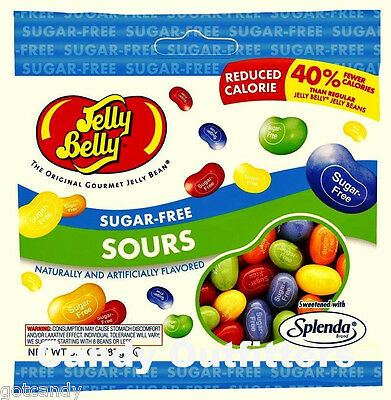 JELLY BELLY SUGAR FREE SOURS JELLY BEANS CANDY - 1 Bag - Sour Sugarfree Candies