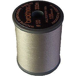 Brother satin finish embroidery thread. 300m spool WARM GREY 399