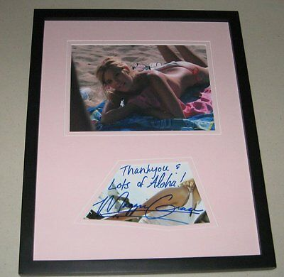 Maggie Grace SEXY TOPLESS Signed Framed 11x14 Photo Display Lost Taken