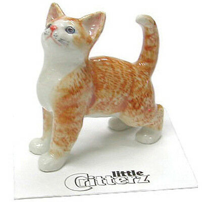 Little Critterz Ginger Orange Tiger Kitten Cat Mini Figurine Wee Animal LC 908