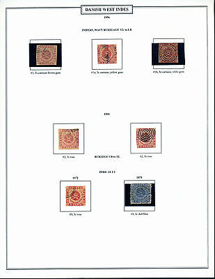 Danish West Indies 1856-1915 Used Collection (9) Pages Cv $9,099.80 Wl4089A