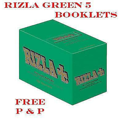Orignal Rizla Green Standard/ Regular Size Rolling Papers 5 Booklets @ £1.65