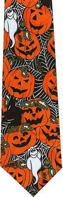 Halloween Ghosts Pumpkins Bats And Witches Novelty New Tie
