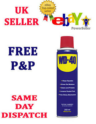 Wd40 250 ML AEROSOL PENETRATING SILICONE FREE OIL MAINTENANCE LUBRICANT SPRAY
