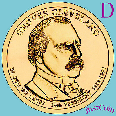2012-D GROVER CLEVELAND 2nd TERM GOLDEN PRESIDENTIAL DOLLAR FROM MINT ROLL UNC