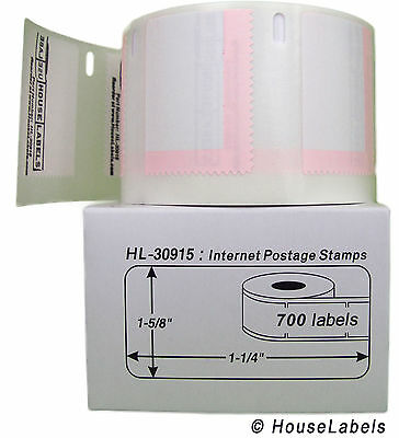 4 Rolls of Internet Postage (700) Labels fits DYMO® LabelWriters® 30915
