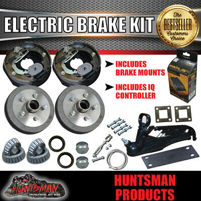 "10"" Trailer Electric Brake Kit inc Coupling Kit & IQ Controller. Caravan, Camper"