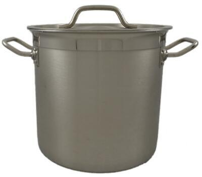 New Commercial 17L Stainless Steel Stock Pot Saucepan With Forged Triple Bottom