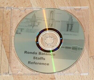 Ronda Balance staff reference CD spares/repairs vintage watch information