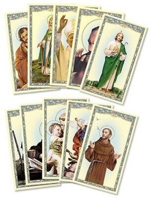 Mens Catholic Gift Assorted Male Patron Saint Benedict Michael Jude Holy Cards