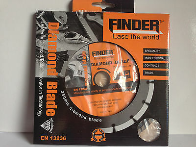 "9"" (230mm) Turbo Diamond Cutting Blade. Concrete cutter, Ceramic, Granite."
