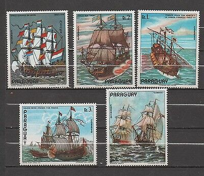 Paraguay  stamps MNH  ships sailing paintings 0163