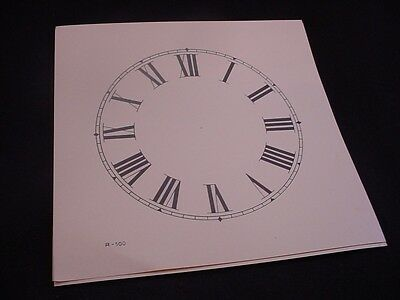 "Vintage Replacement 5"" Antique White & Black Paper Roman Numeral Clock Dial ZZ37"