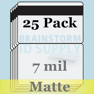 7 mil Matte HiCo Mag CC-Size Butterfly Laminate Pouches for Teslin - 25 pack