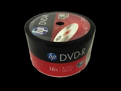 50 Pieces HP Logo 16X DVD-R DVDR Recordable Blank Disc