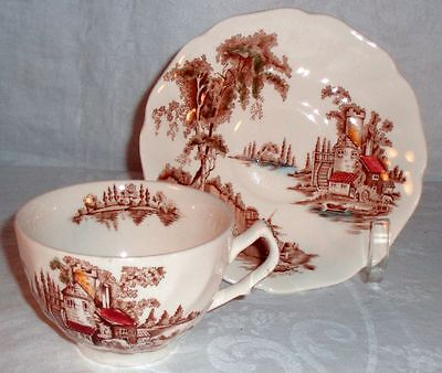 Johnson Brothers The Old Mill Set of 6 Cups and Saucers