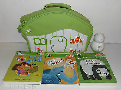 Leapfrog Tag Jr Reader System + 3 Books - Dora The Explorer Plus Carrying Case