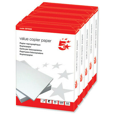 Copier Paper A4 White 80G 5 Reams              ~397921©