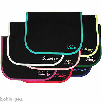 "ENGLISH BABY SADDLE PAD WITH CUSTOM EMBROIDERY Horse Size 26""x40""- By BobbiGee's"