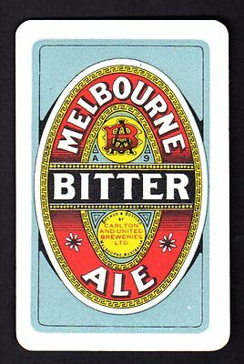 Vintage Swap/Playing Card - Melbourne Ale Ad (MINT CONDITION)