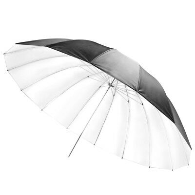 "180cm 71"" Studio Super Large Black/White Umbrella 8mm Shaft Mega Brolly"