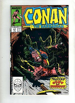 Conan The Barbarian  - Marvel Comic - #217   ( 1989 )  - Vg