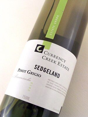 2010 CURRENCY CREEK ESTATE Sedgeland Pinot Grigio Isle of Wine