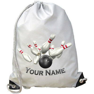 Bowling Pins Personalised Gym / Swimming / Pe / Dance Bag - Kids Named Gift