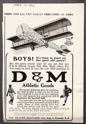 [34952] 1918 D&m Athletic Goods (Plymouth, New Hampshire) Magazine Advertisement