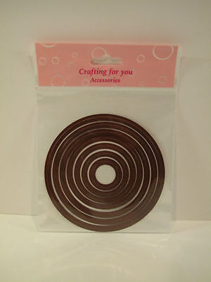 7 Piece Quality Cutting/Embossing Nesting Die Set  Large Circles 58332