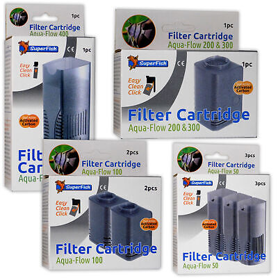 Superfish Aqua-Flow Filter Cartridges Fish Tank Aquarium Filtration Media