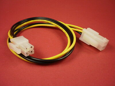 Internes PC Stromkabel 0,37m 4pin P4 Powerkabel 4pol.Stecker-Buchse