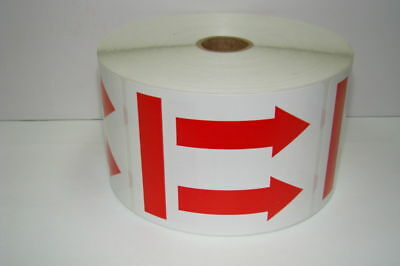 250 Labels 3x4 Double Red ARROW to show This Side Up Shipping Stickers