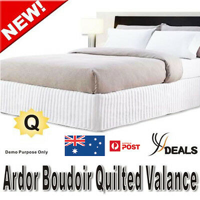 Ardor Boudoir Queen Bed Quilted Valance - White