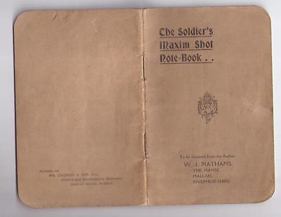 THE SOLDIERS MAXIM SNOT NOTE-BOOK W.J.MATHAMS QV ERA GB ARMY  WWI