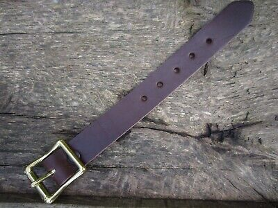 """UTILITY STRAP LEATHER Tie Down 25mm (1"""") wide SOLID BRASS BUCKLE VARIOUS LENGTHS"""
