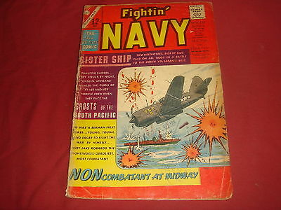 FIGHTIN' NAVY #125 Silver Age Charlton Comics 1966 VG-