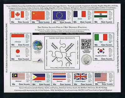 Cook Islands --- FLAGS --- South Pacific Conference Sheetlet II