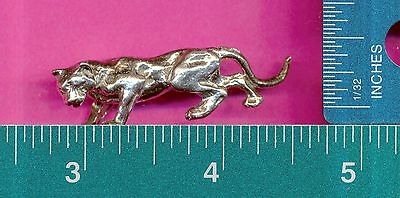 lead free pewter cougar figurine C3080