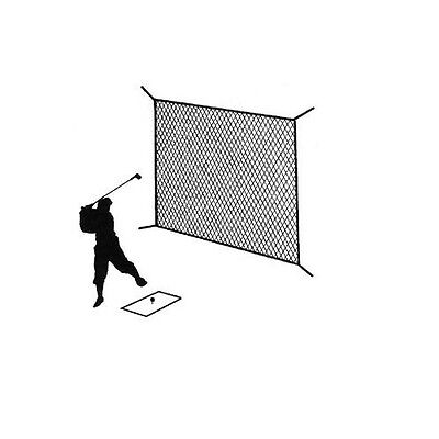Golf Net Black Practice Driving Impact Screen Netting Roped Edges 10' x 10'