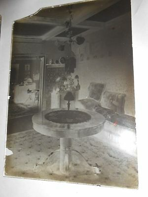 Antique Glass Negative Victorian Interior Arts & Crafts Home
