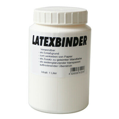 Latex Bindemittel farblos 1 Liter Acrylbinder Binder
