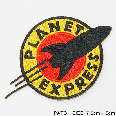 "FUTURAMA - ""PLANET EXPRESS"" Ship Crew Logo - Embroidered Iron-On Patch- NEW"