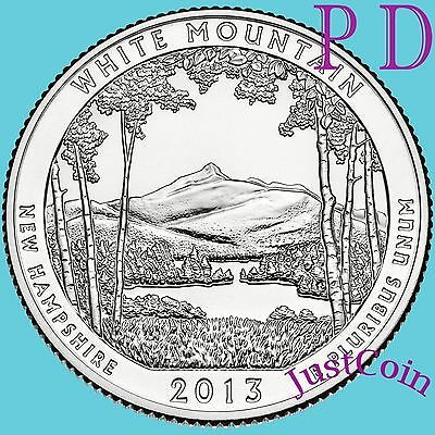 2013 P&d Set White Mountain National Forest (New Hampshire) Quarter Uncirculated