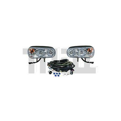 Snow Plow Halogen Headlamp Light Kit Uses Double Post Mounts universal fit