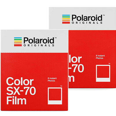 2 Pack Polaroid Originals 4676 Instant Color Film for Polaroid SX-70 Cameras