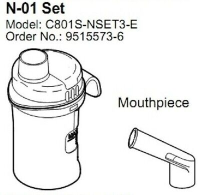 Omron VVT Nebuliser Kit Set N-01 9515573-6 for C-801 C-28P