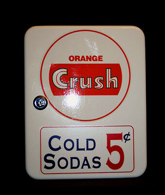 Orange Crush Vintage Era Style Fountain Service Booth  Counter Keybox