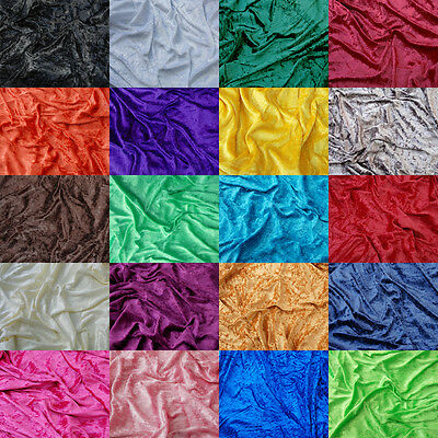 Premium CRUSHED VELVET FABRIC -  Craft Stretch Velour Material 150cm Wide