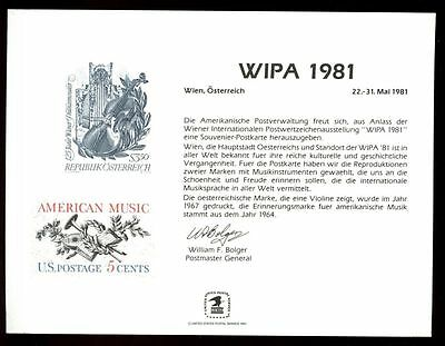 USA 1981 Wipa Souvenir Card #C4648